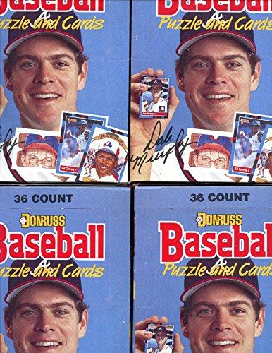 1988 Donruss Baseball (LOT 4 1988 Donruss Baseball Card Wax Pack Box Barry Bonds Nolan Ryan)