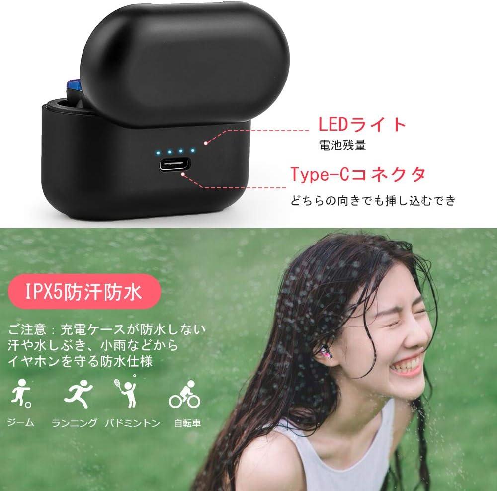【中華ワイヤレスイヤホン】Bluetooth イヤホン Hi-Fi 高音質 EDR搭載 3Dステレオ サウンド 音量調整 完全 ワイヤレス イヤホン