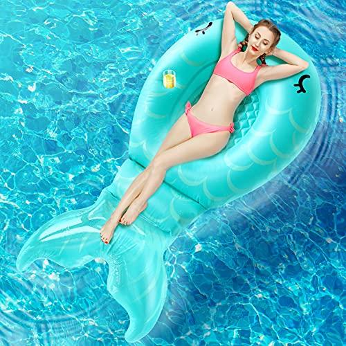 팽창식 수영장 인 FLOAT FLOATIE-86.6×45.3×17.7거대한 수영장 뗏목 불어 아이를 위한 성인 여자 여름 물감을 위한 파티에서는 수영장과 해변