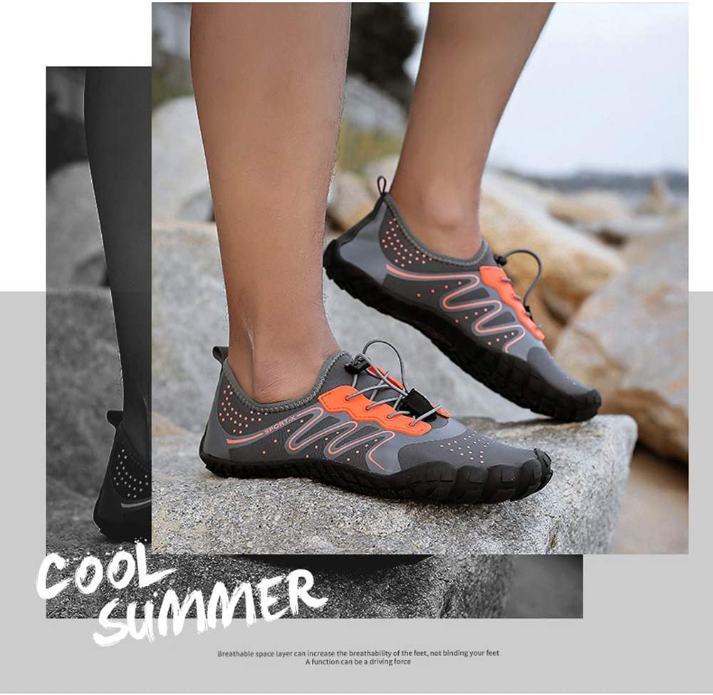 Hommes Femmes Aqua Chaussures De Bain Chaussures De Sport Barefoot Water Shoes for Beach Boating Fishing Yoga Diving Surfing Quick Dry Drainage. Gray