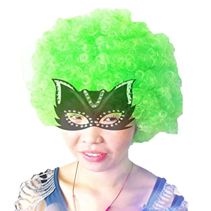 wig Carnaval De La Copa Mundial Adultos La Fiesta Peluca Explosion Head Halloween Christmas Colored Holiday