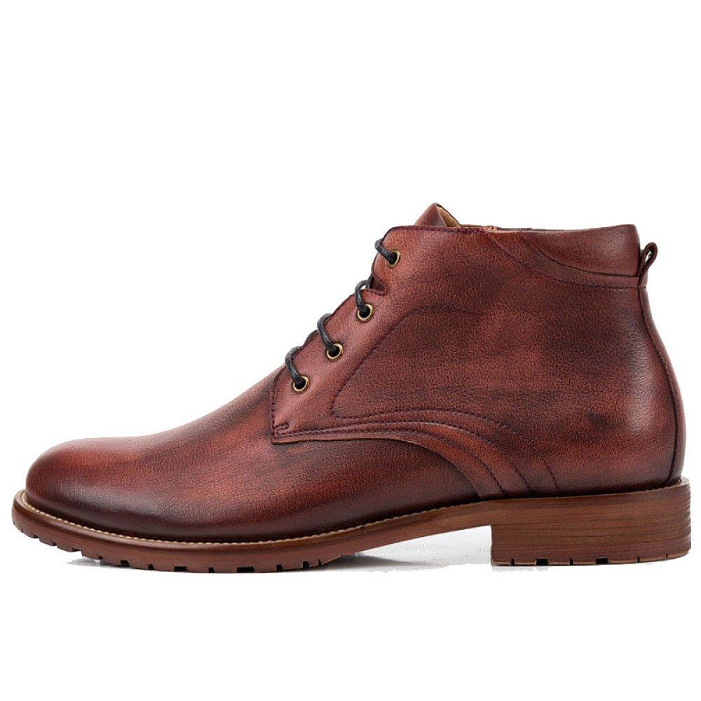 ZPJSZ Männer Vier Jahreszeiten Lässig Martin Stiefel Mode England Weinlese Jugend Lederstiefel