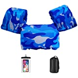 AmazeFan Kids Swim Life Jacket Vest for Swimming Pool, Swim Aid Floats with Waterproof Phone Pouch and Storage Bag,Suitable f