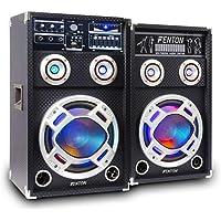 Fenton KA-06 Actieve Speakerset 400 Watt met Bluetooth, USB en LED voor o.a. Karaoke en Feesten