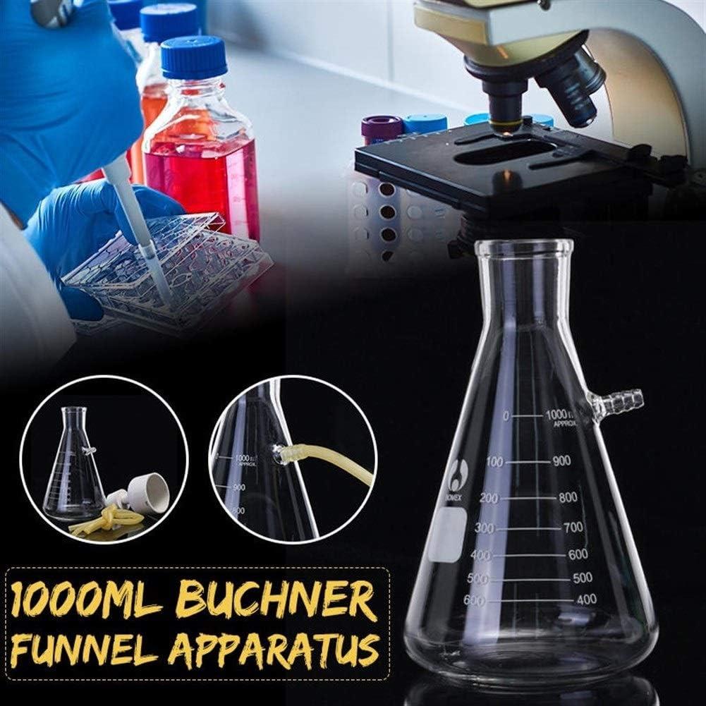Jill Ernest Zubeh/ör Glaskolbenapparat 1000ml Filteration B/üchner Trichterkit Vakuumsauger