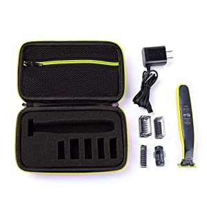 CrustPro Carrying Case Compatible with Philips Norelco Oneblade QP2520/70 QP2520/90 Electric Trimmer Shaver