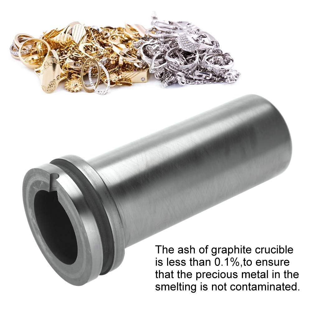 2kg 1kg//2kg//3kg High Purity Graphite Crucible Metal Melting Gold Silver Scrap Furnace Casting Mould Melt Jewelry Tools Graphite Casting Melting Ingot Mold for Gold Silver Metal