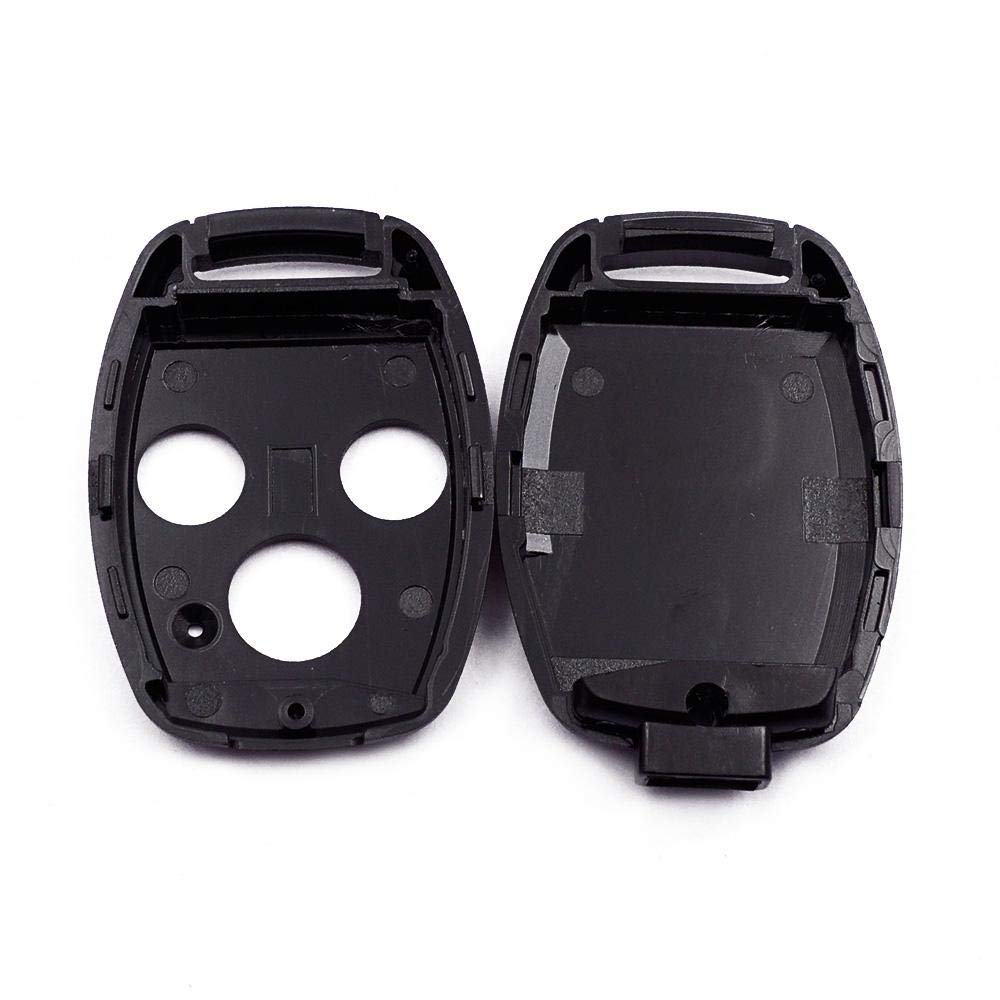 CRV Civic 2 Boutons // 2 Boutons // 3 Boutons Clicker Accord Noir FOONEE Bo/îtier de Remplacement pour cl/é Clicker Feng Fan Key Fobღ Coque pour Honda Civic