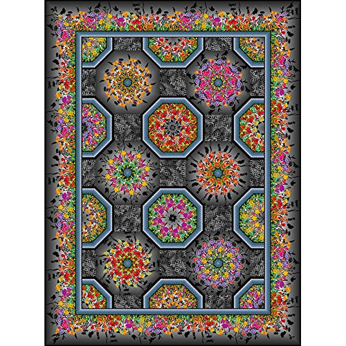 One Fabric Kaleidoscope Quilt Pattern by in The Beginning