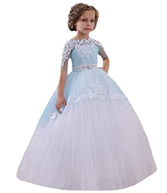 Amazon Pretygirl Ball Gown Lace Flower Girl Dresses Plus Size