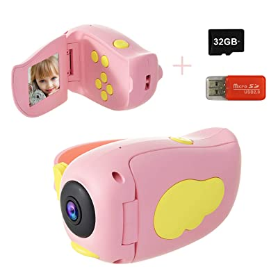 Kids Camera, DDAD Digital Video Camera Gifts for Boys and Girls, 10MP 1080P Toddler Video Recorder Rechargeable and Shockproof Creative DIY Camcorder for Children (32GB SD Card Included): Toys & Games