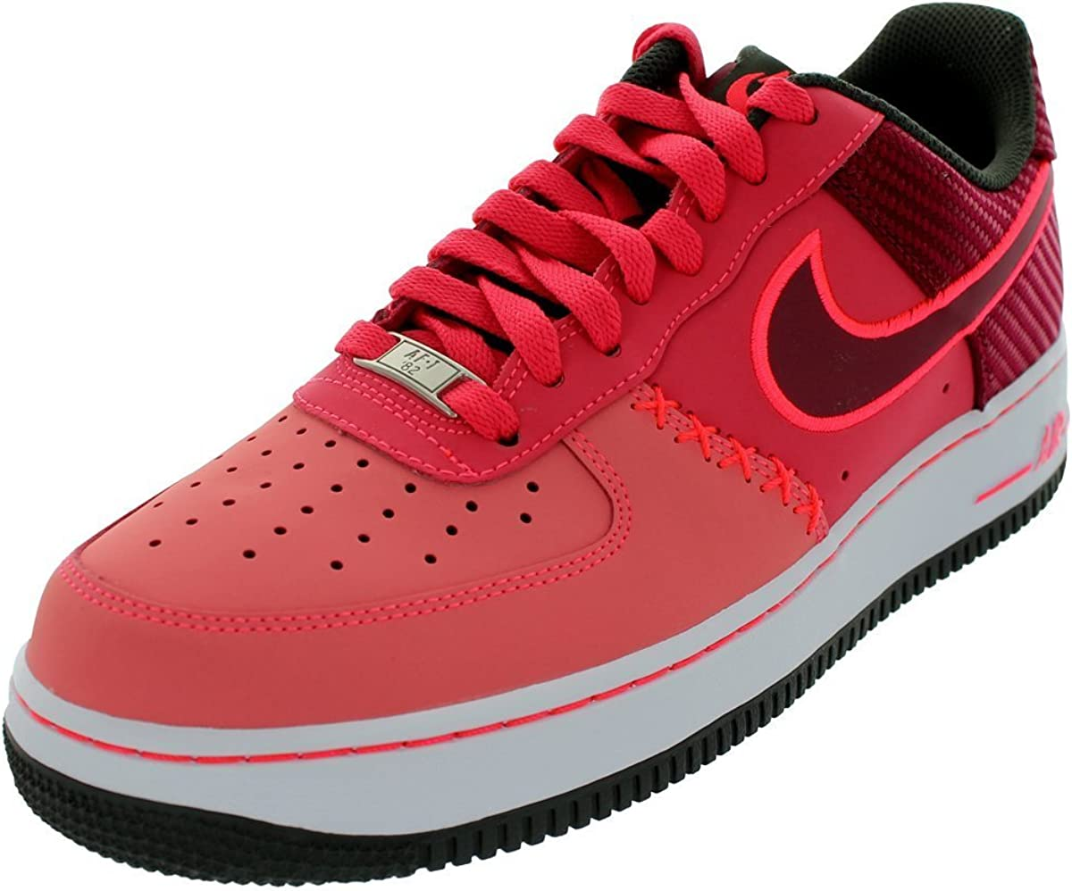 Nike Air Force 1 Red Leather Mens