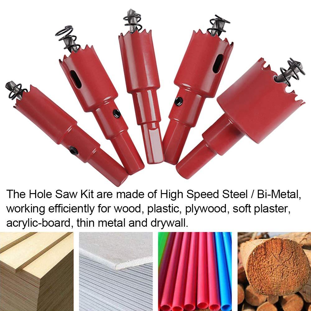 Sierra de corona 15 mm, M42 HSS, para metal, madera, aluminio, chapa de hierro, tubo, pl/ástico, cer/ámica Ruhr-Werkzeug