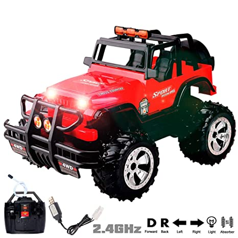Coming Kids Jip.1 15 Scale Super Duty Radio Remote Control Jeep Vehicle Off Road Powerful Cross Country Suv All Terrain Car With Lights Sounds Great Gift For Kids