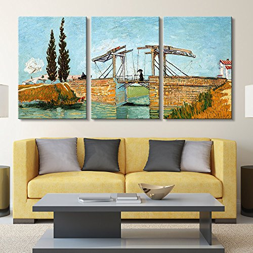 3 Panel The Langlois Bridge at Arles by Vincent Van Gogh Gallery x 3 Panels