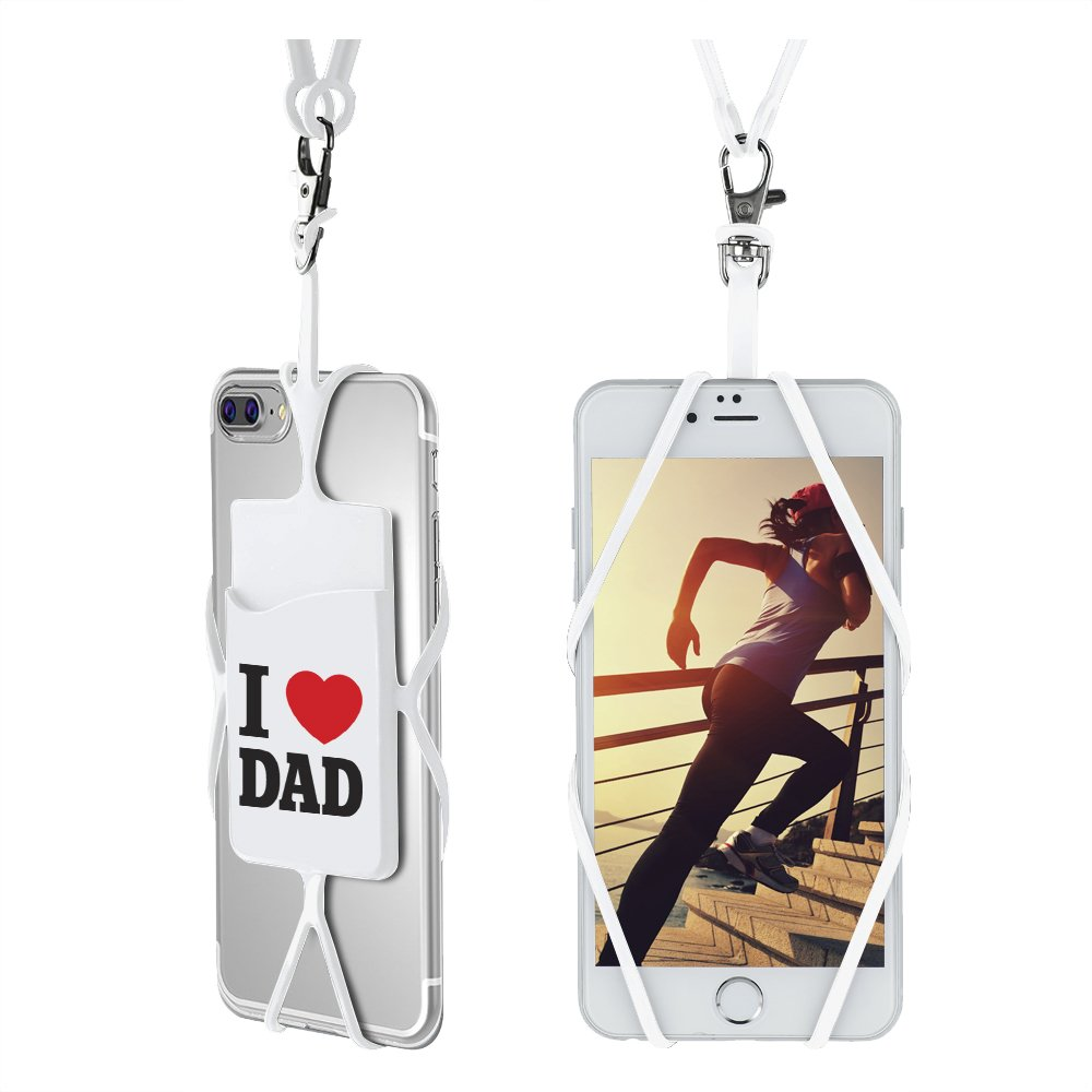 Gear Beast Universal Smartphone Case Cover Holder Lanyard Necklace Wrist Strap With ID Card Slot For iPhone 7 6S 6 Plus Galaxy S7 S6 Edge Note 5 4 3 and Other Mobile Phones Cell Phone Lanyard Strap