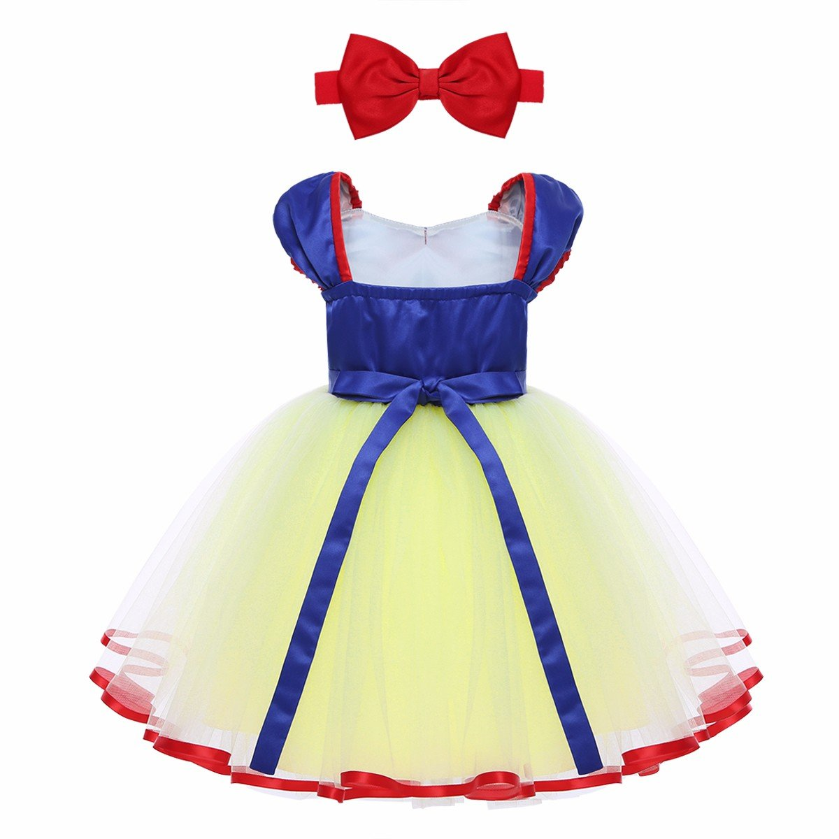 iEFiEL Toddler Baby Girls Princess Costume Holiday Birthday Party Fairy Dress up with Headband
