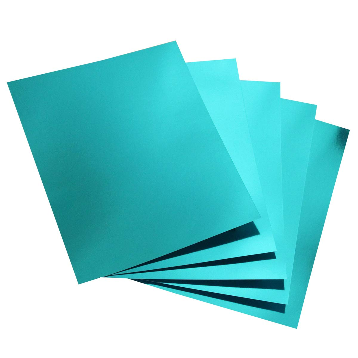 Hygloss Products Metallic Foil Board Sheets-8.5 x 11 Inches - Light Blue, 100 Pack by Hygloss