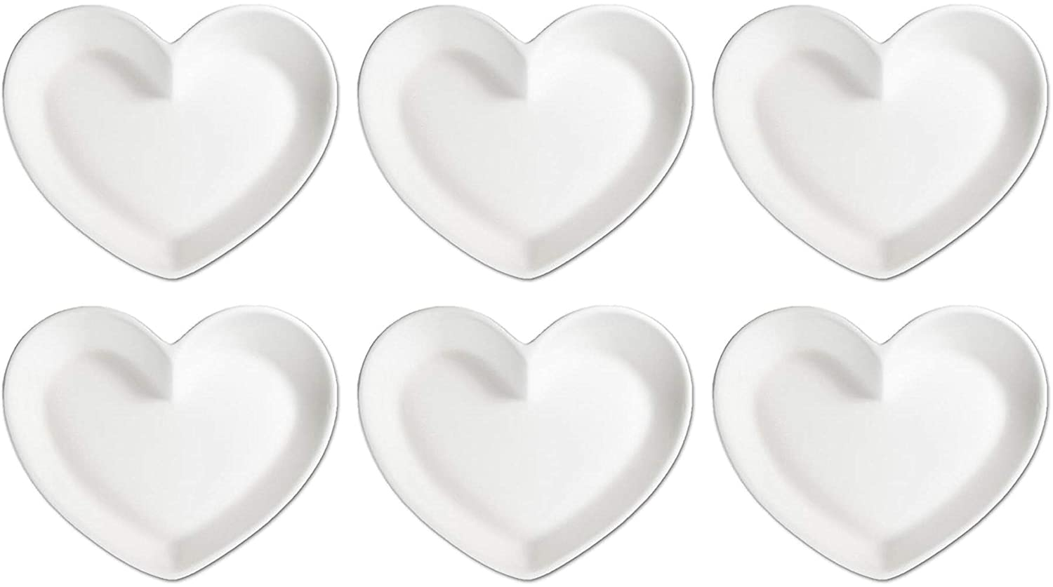 Set of 6 Little Heart Dish Stock Your Ceramic Studio Paint Your Own Ceramic Keepsake