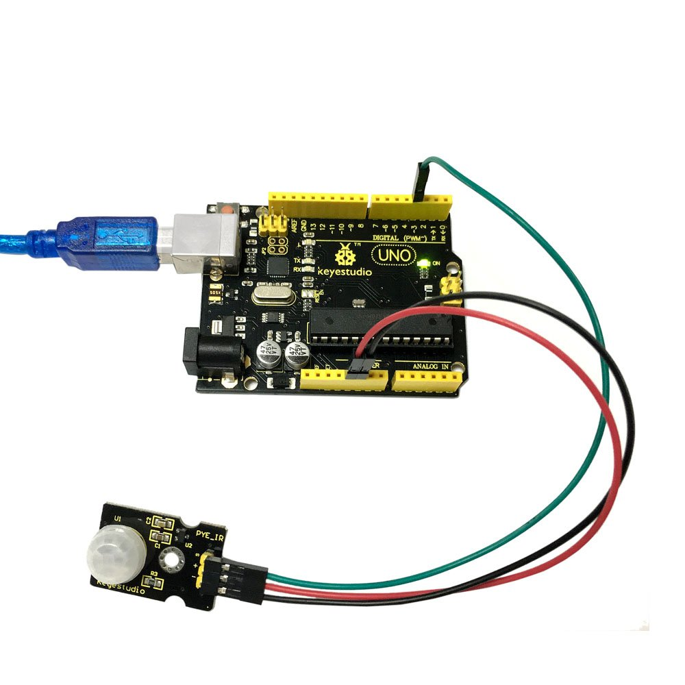 Keyestudio Pir Motion Sensor For Arduino Pyroelectric Infra Red Light Barrier Using 555 Ir Human Body Electronics