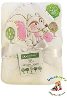 blueberryshop bordado grande de algodón con capucha baño/toalla de piscina/Playa Para Bebé