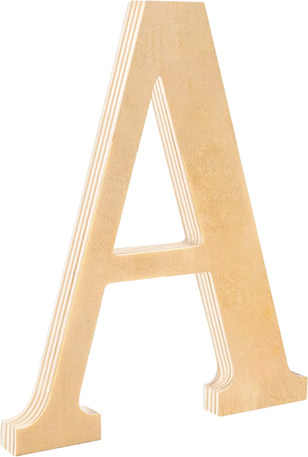 """Wood Letters A, HNYYZL Natural Unfinished 8 inch Wooden Letter Decorative Craft Wooden Signs Thick, for Wedding, Party, Home Decor, Wall Hanger, DIY Craft, Child Early Education(0.55"""" Thick, 1 Pack)"""