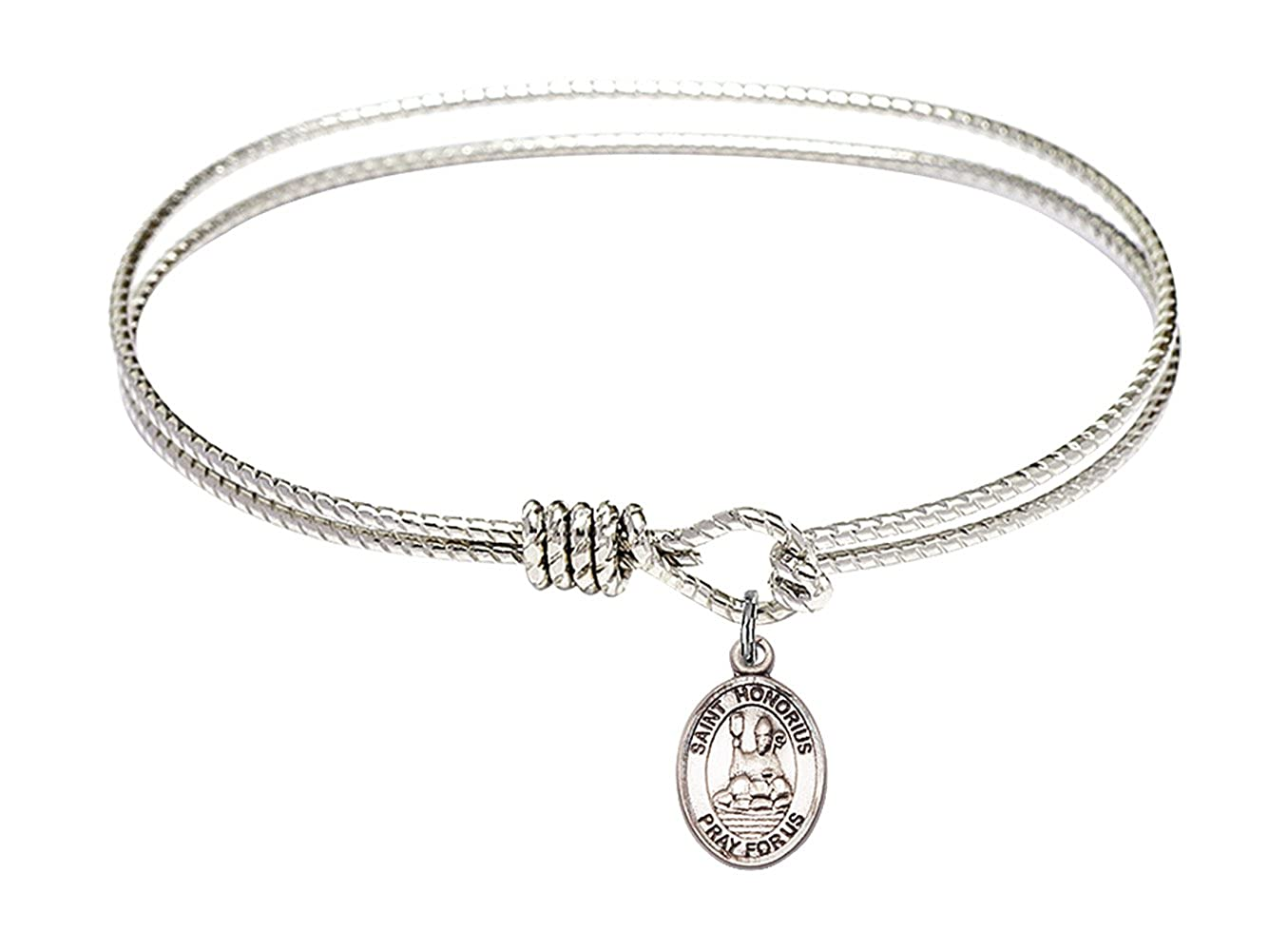Honorius of Amiens Charm. DiamondJewelryNY Eye Hook Bangle Bracelet with a St