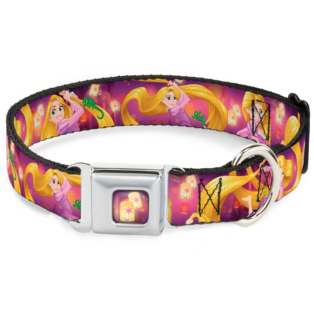 Rapunzel 4-Tangled Poses Pascal Lights Light Purples 1.5\ Rapunzel 4-Tangled Poses Pascal Lights Light Purples 1.5\ Buckle-Down Seatbelt Buckle Dog Collar Rapunzel 4-Tangled Poses Pascal Lights Light Purples 1.5  Wide Fits 13-18  Neck Small