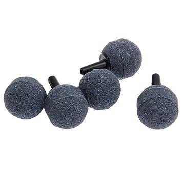 FACILLA®5 Piedras Difusor de Aire Forma Redondo para Acuario Pecera Gris Diš¢metro 20mm: Amazon.es: Hogar