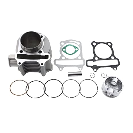 Amazon.com: GOOFIT 57.4mm Bore Cylinder Kit with Piston for 4 Stroke on fox go cart parts, go kart suspension parts, go kart engine parts, helix go kart, fox helix 150cc parts, japanese go kart parts, fox carbide 150cc parts, 150 go kart parts, helix 150cc buggy,