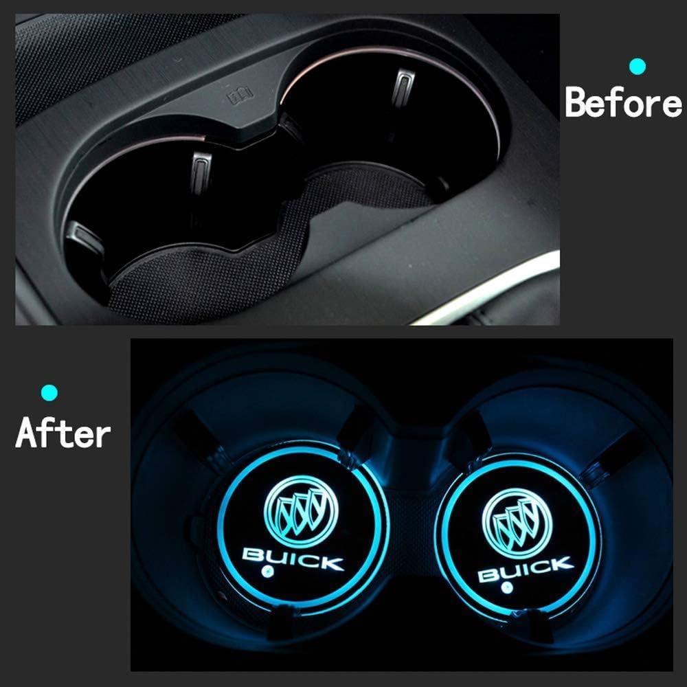 W/ählen Sie Ihren Autonamen KINBEAR Getr/änkehalter Auto LED Untersetzer 7 Farben USB Lade Becherhalter Lumineszenz Tasse Halter LED innenbeleuchtung Auto Atmosph/äre Lampe