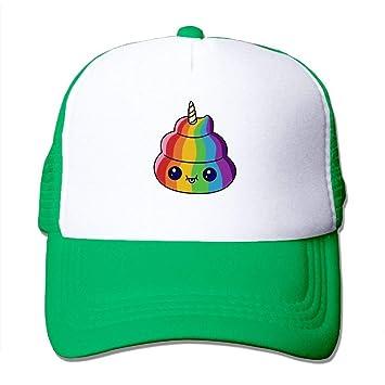 rongxincailiaoke Gorras béisbol Cute Unicorn PP Emoji Mesh ...