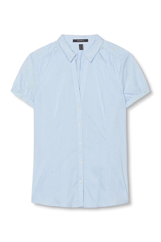 ESPRIT Collection Damen Regular Fit Bluse 996EO1F900, Gr. 34, Blau (Pastel  Blue 435): Amazon.de: Bekleidung