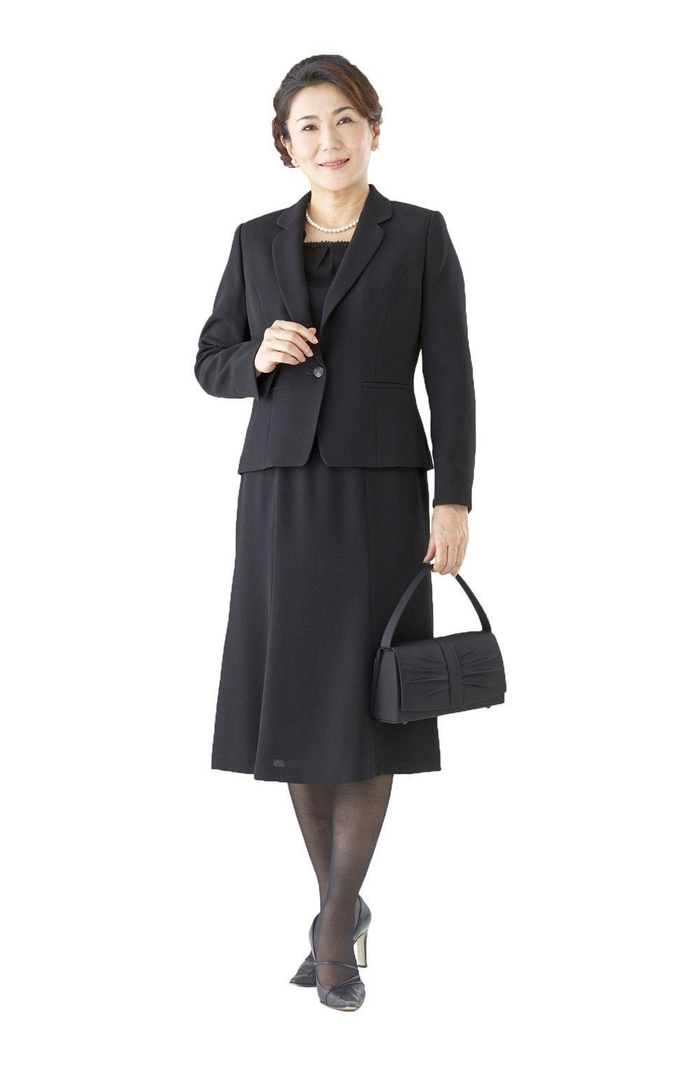 064afa52872a1 (モノワール) MONOIR 喪服 レディース 礼服 大きいサイズ 前開き 授乳 ブラックフォーマル アンサンブル ワンピース