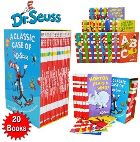 Dr Seuss Classic 20 Books Gift Set (Kids Wonderful World Read at Home Collection) Titles include - The Cat in the Hat, Green Eggs and Ham, Oh The Places you'll Go, One Fish Two Fish Red Fish -
