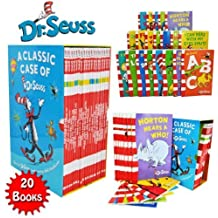 Dr Seuss Classic 20 Books Gift Set (Kids Wonderful World Read at Home Collection) Titles include - The Cat in the Hat, Green Eggs and Ham, Oh The Places you'll Go, One Fish Two Fish Red Fish Blue Fish, Hop on Pop, Dr. Seuss ABC, Ten Apples Up On Top and More. (Dr Seuss)
