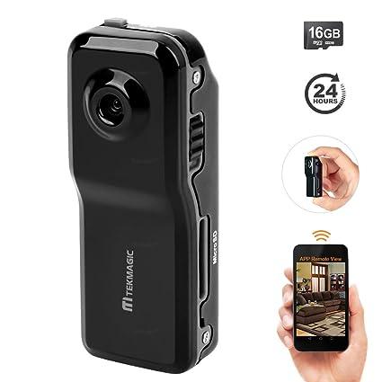 TEKMAGIC Cámara de WIFI Inalámbrica 16GB Portátil Mini DV Grabador de Vídeo para el iPhone iPad