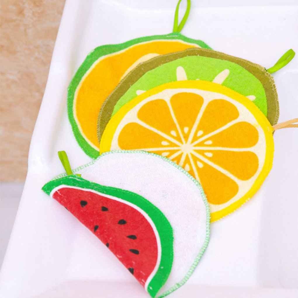 GOTTING 20cm Niños bebé redondo de algodón toalla de mano fruta de la cocina Wipe paño de cocina Cocina colgar toallas Estropajos naranja: Amazon.es: Hogar