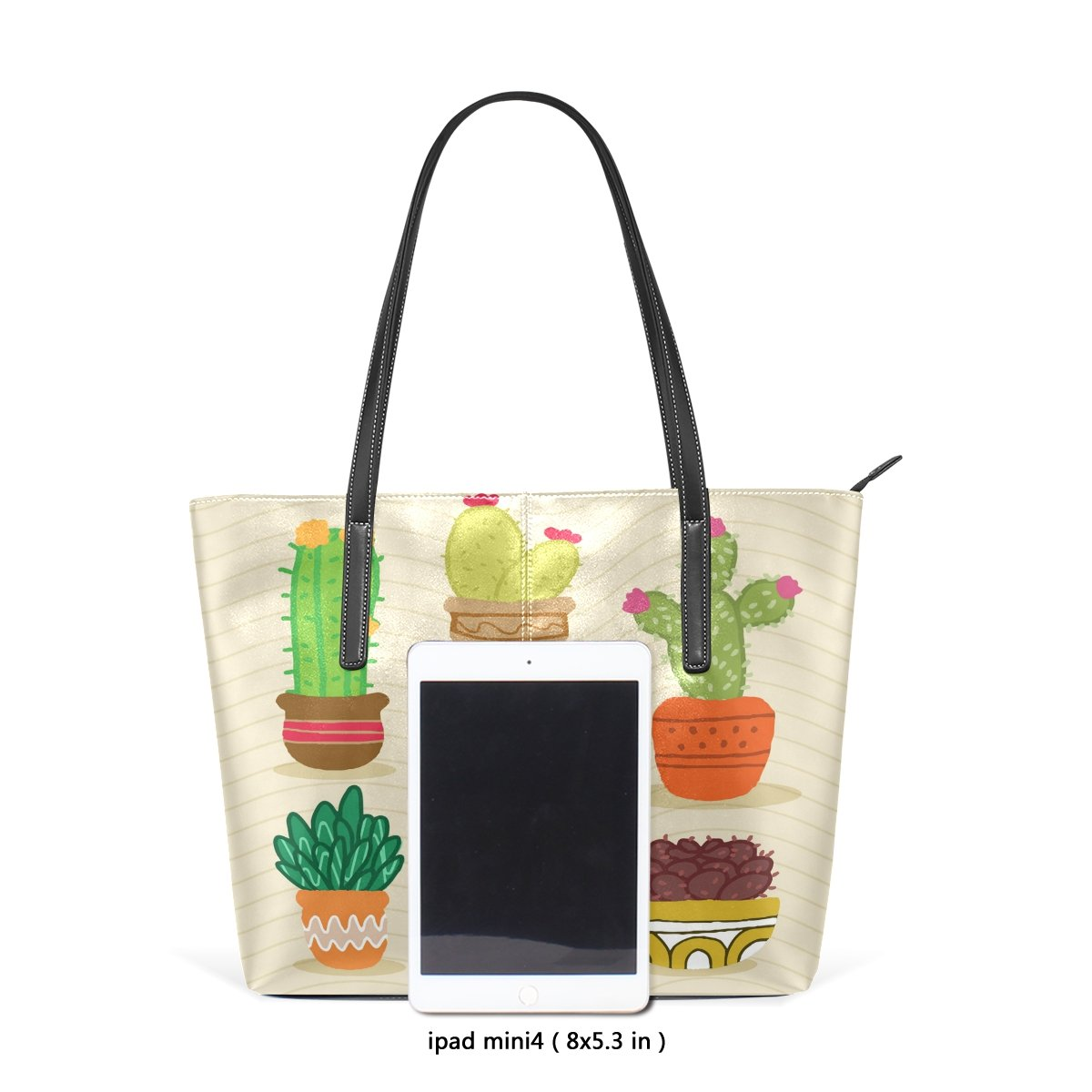 Women Leather Handbags Cactus Top Handle Shoulder Bags