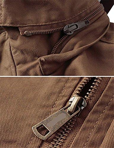 Caqui Nuevas Caliente superan Hombres Las el los del Shuanghao con de algodón del Chaquetas Capucha Militares Abrigo chaquetón gRnBw