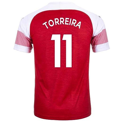 huge discount e1cdd 33b97 Amazon.com: PUMA TORREIRA #11 Arsenal FC Home Youth Soccer ...