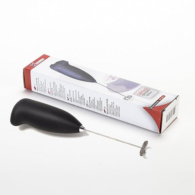 BESTONZON Batidora de leche eléctrica Mezclador de café expreso de mano de acero inoxidable Mezclador de vapor y agitador de café para leche de café Foamer ...