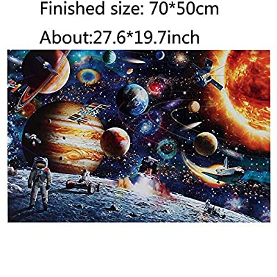 IDEASTAR Space Puzzle 1000 Piece Jigsaw Puzzle Kids Adult –Space Traveler Jigsaw Puzzle: Toys & Games
