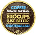 EKOCUPS Artisan Guatemalan Coffee, Medium Roast, in Recyclable Single Serve Cups for Keurig K-cup Brewers, 40 count