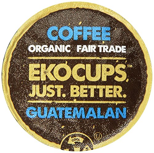 EKOCUPS Artisan Guatemalan Coffee, Medium Roast, in Recyclable Single Serve Cups for Keurig K-cup Brewers, 40 count, 4.5OZ
