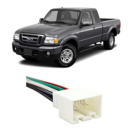 amazon com: fits ford ranger 1998-2011 factory stereo to aftermarket radio  harness adapter: car electronics