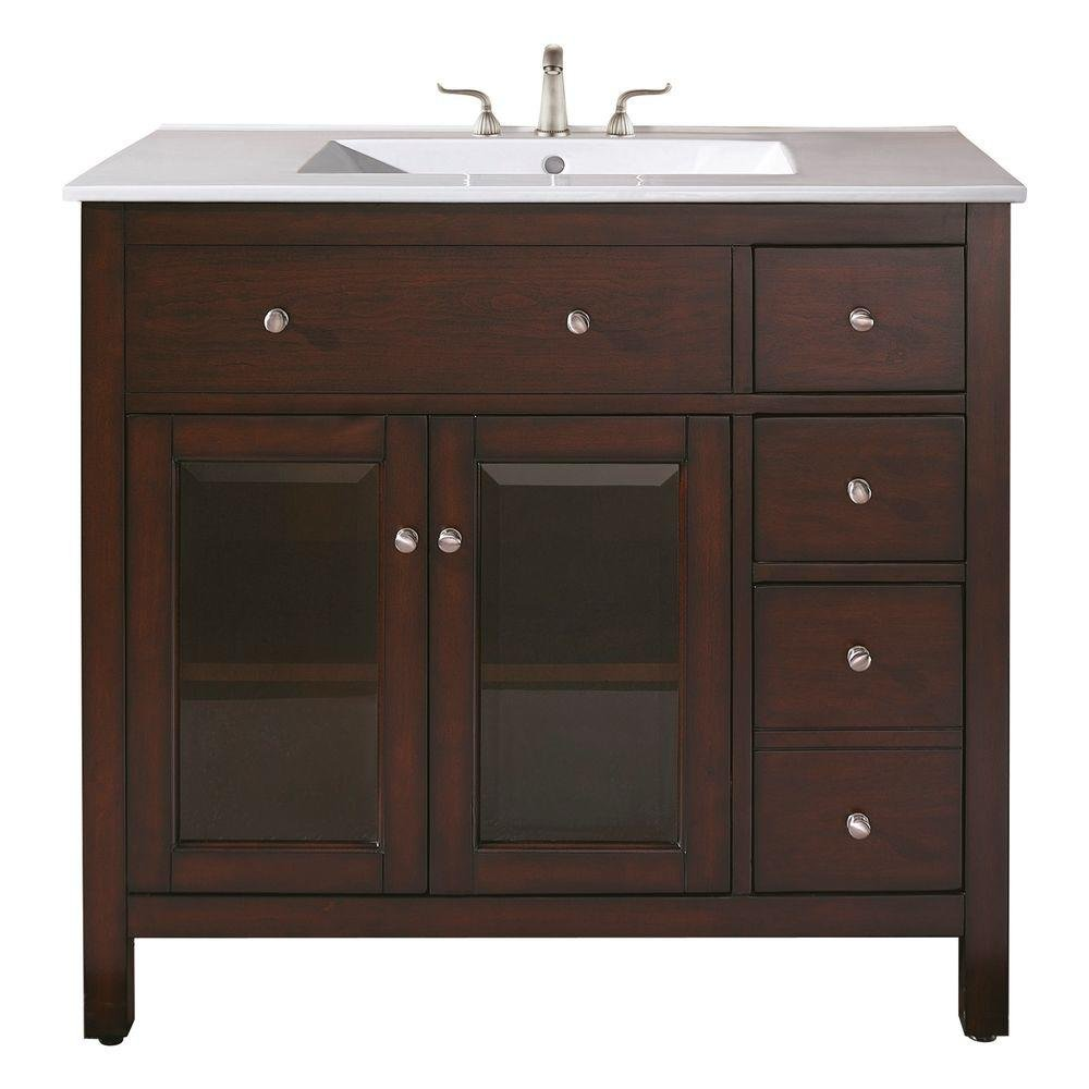 outlet Avanity Lexington 36 in. Vanity Only in  Light Espresso finish