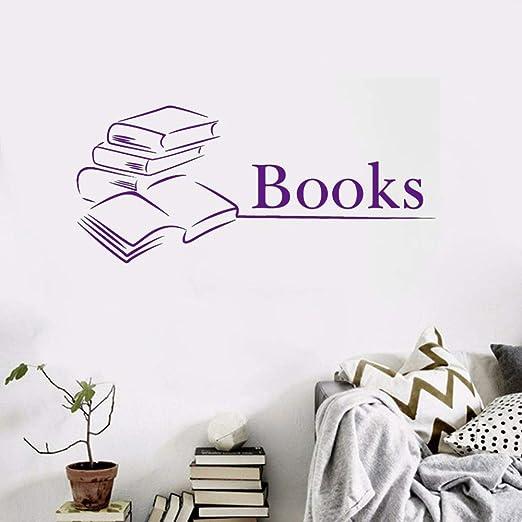 Zaosan Libro Etiqueta de la Pared Biblioteca Vinilo Arte Cartel ...