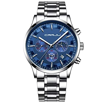 Business Watches for Men, DYTA Six Pin Multi Function Luxury Watches with Stainless Steel Case