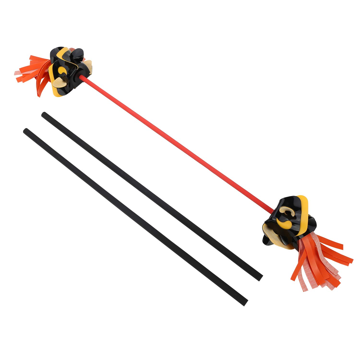 YuXing Professional Juggling Flower Sticks Devil Sticks (30.3'' 4.96OZ) + 2 Hand Sticks (20.5'' 2.91OZ) by YuXing TOY